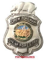 CDF Crew Foreman CA Department Of Forestry Fire Pins Lapel Hat Historic Fire Pin