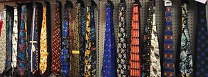 Closeout Wholesale Lot of 100 Assorted New Men's Novelty Neckties Ties