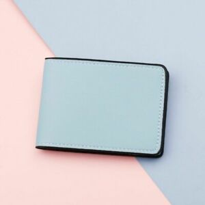Men Girl Driver License Holder Faux Leather Business ID Wallet Case Card Holders