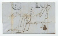 1848 New Orleans to Netherlands transatlantic stampless [H.400]