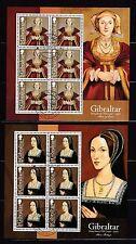 Gibraltar 2009 gestempelt Kleinbogen Satz MNr. 1308-1315 Heinrich VII