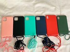 Funda de silicona con cordon para iPhone 11,11pro,11pro max,XSmax,XS,6,7,8 PLUS