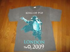 Michael Jackson King of Pop London The O2 2009 Tour Gray Concert T-Shirt Size M
