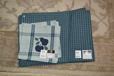 New matching set of napkins and placemats with tags fruit motif