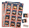 Pack of 12 - USA President Sticker Sheets - Great Party Bag Fillers