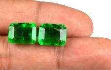 100% Natural Muzo Colombian Emerald Pair 14-16 Carat Emerald Cut AGSL Certified