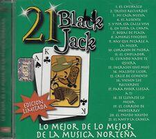 Carlos y Jose Ramon Ayala Los invasores 21 Black Jack Norteno CD New Nuevo
