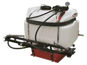 Extra Large 40 Gal 3 Point 12V Hitch Sprayer 2.4 GPM Diaphragm Pump UTV 4 Nozzle
