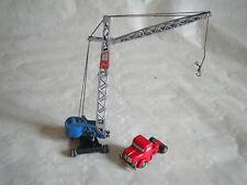 Vintage Schuco piccolo No 732 Mobile crane Liebherr Kran + Magirus deutz truck