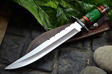 BDS CUTLERY RARE CUSTOM MADE D2 TOOL STEEL BLOOD GROOVED BOWIE KNIFE - UK-16