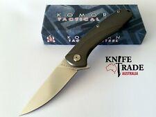 Komoran KO014 Folding Pocket Knife Flipper Deploy Titanium Handle 9Cr18MoV EDC