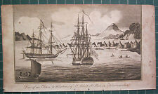 1806 PRINT CAPTAIN COOK VOYAGES ~ TOWN & HARBOUR St PETER & St PAUL KAMTSCHATKA
