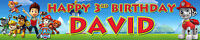 PAW PATROL PERSONALISED BIRTHDAY BANNERS PACK OF TWO OPT3