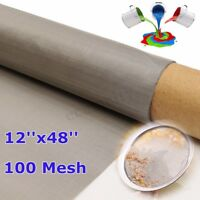 12''x48'' 100 Mesh150 Micron 316 Stainless Steel Oil Filter Filtration Screen !
