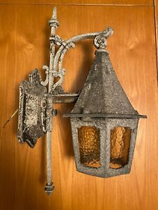 Antique Vintage 1920-30's Gothic Medieval Porch Sconce Outdoor Light Fixture