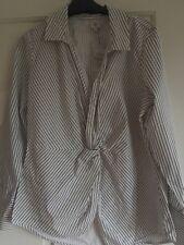River Island Rayas Blusa Camiseta Talla 12 BNWT