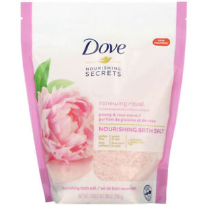 Dove, Nourishing Secrets, Nourishing Bath Salts, Peony and Rose Scent, 28 oz (79