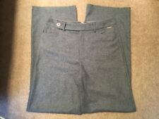 MARKS AND SPENCER PER UNA GREY WOOL BLEND WIDE TROUSERS SIZE 18 SHORT  BRAND NEW