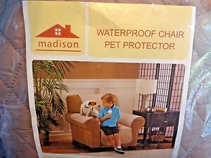Madison Waterproof PET PROTECTOR Chair Cover BEIGE Quilted Softness Easy Care