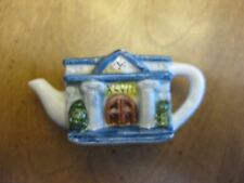 MINIATURE  RED ROSE TEA PORCELAIN CITY HALL  TEA POT