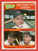 1965 Topps #3 Home Run Leaders EX MARKED HOF Mickey Mantle Harmon Killebrew