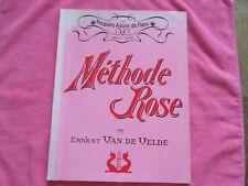 LA PREMIÈRE ANNÉE DE PIANO MÉTHODE ROSE PAR ERNEST VAN DE VELDE - 1960