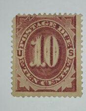 Travelstamps: 1884-1889 US Stamps Scott # J19, mint, no gum,10 cents Postage Due