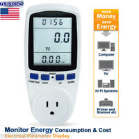 Wall Outlet LCD Meter Energy Power Monitor Volt Watt Voltage Amps Analyzer New