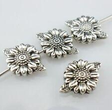 100Pcs Tibetan Silver Nice Flower Spacer Beads 13x9mm ZN14232