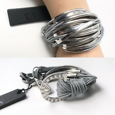 Cute Armani exchange women's bracelet popular gray/silver color multi cord strap