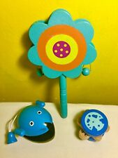 NEW bundle set of wooden rattle,child,toy,music,clapper,mouse,tortoise,kids