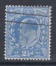 1911 EDVII 21/2d PERF 15x14 DULL BLUE SG284 GOOD USED