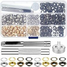 300 Set Grommet Kit Eyelet Hole Punch Tool Leather Craft Clothing Canvas 1/4 In