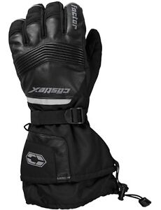 Castle X Factor Gloves Leather Mens sizes S-3XL snowmobile glove Black
