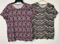 NWOT Croft & Barrow Womens Top Shirt Lot of 2 Short Sleeve Classic Tee Sz XL