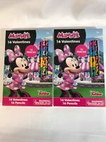 Minnie Mouse Valentines 16 Valentines & 16 Pencils Lot of 2 a Total of 32!