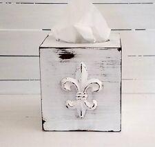 Kleenex box - tissue holders - tissue box covers - fleur de lis - shabby chic