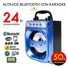 ALTAVOZ PORTATIL CON BLUETOOTH ALTAVOCES INALAMBRICO CON USB + RADIO (NEGRO)
