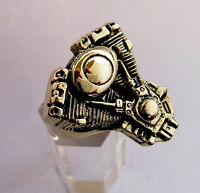Bronze V-Twin Engine Biker Ring Custom size Chopper Pan head Harley handmade R2b