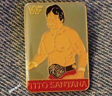 Wrestling Pin~Tito Santana~80's Vintage~WWF~World Wrestling Federation
