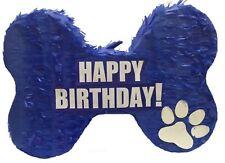 "Happy Birthday Bone Pinata 20"" Blue Color"