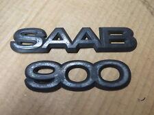 """SAAB 900 EMBLEM SET """" SAAB 900 """" OEM"""