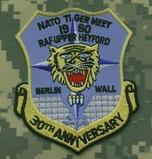 NTM NATO TIGER MEET PATCH SSI: NTM 30th Anniversary 1990 RAF Upper Heyford UK