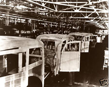 Ford Woody Wagon Assembly Line 1930 Kingsford Michigan Ford Motor Wood Bodies