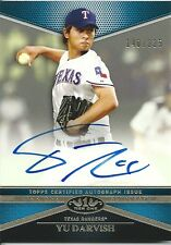2012 Topps Tier One 1 YU DARVISH Tier One Autograph On-Card Auto #140/225