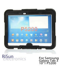 """Black Shock Proof Heavy Duty Tough cover case for Samsung Galaxy Tab 3 10""""1"""