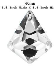 SWAROVSKI® STRASS Component 8560 - 40 mm Clear Senza Logo Pendente Prisma