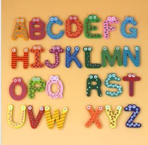 Baby toys 26pcs Letters Kids Wooden Alphabet Fridge Magnet Child Educational b99