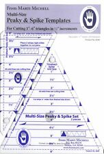 Multi-Size Peaky & Spike Templates from Marti Michell: Cut 1 to 6 Triangles Sets