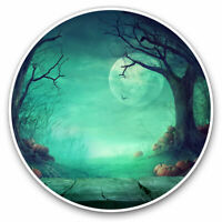 2 x Vinyl Stickers 7.5cm - Spooky Halloween Forest Cool Gift #14268